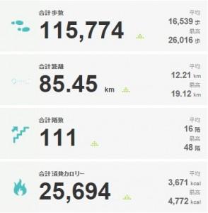 2015年04月20日 から 2015年04月26日のアクティビティ